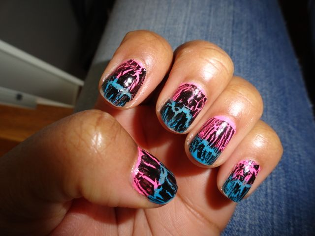 Nails of the Week Featuring China Glaze Metallic Crackle