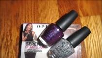 O.P.I Serena Glam Slam Servin' Up Sparkle and Grape..Set..Match