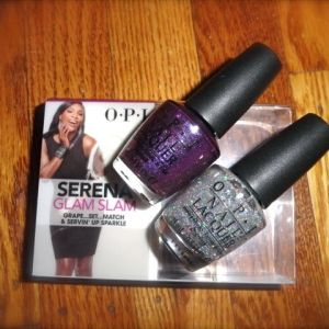 O.P.I Serena Glam Slam Servin' Up Sparkle and Grape..Set..Match