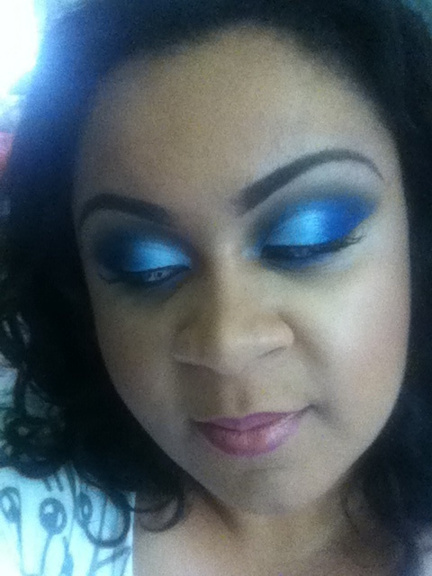 Cosmetically Challenged, Melodykewl Princesszumunda, contest, blue eye shadow