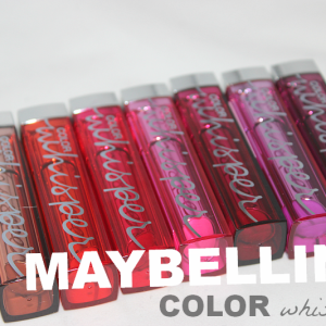 Maybelline Color Whisper Lipstick Collection Review X Picture Heavy