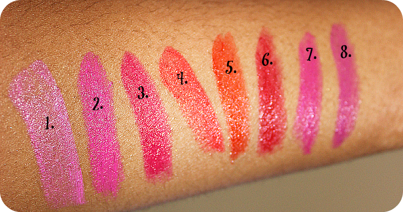 Maybelline Vivid Lipstick Arm Swatches