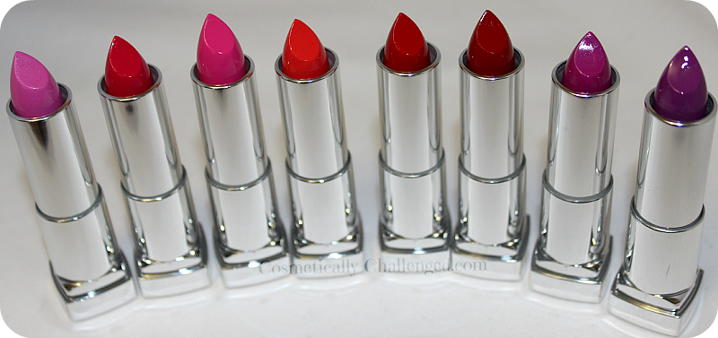 Maybelline Vivid Lipsticks Open