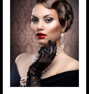 Retro Style Portrait. Romantic Beauty. Vintage