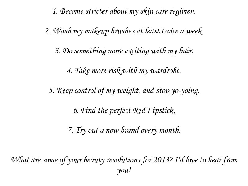 2013 Beauty Resolutions