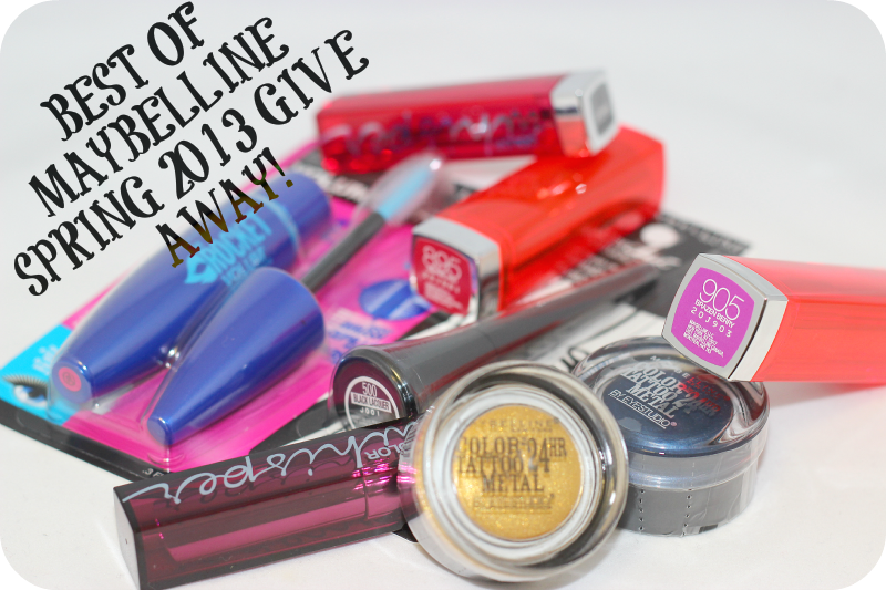 Cosmetically Challenged's Best of Maybelline Spring 2013 Give Away!