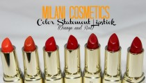 New Milani Color Statement Lipsticks Swatches (Oranges and Reds)