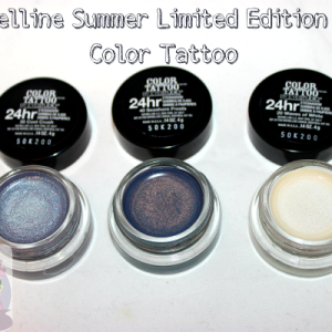 Maybelline 24hr Color Tattoo Summer Limited Edition Duochromes!