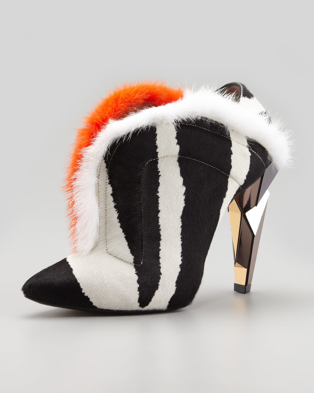 Hot or Not?  Fendi V-Neck Fur Ankle Boots