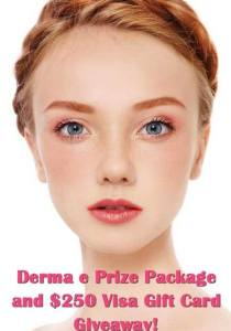 Win It! derma e Prize Pack and a $250 Visa Gift Card Give Away!