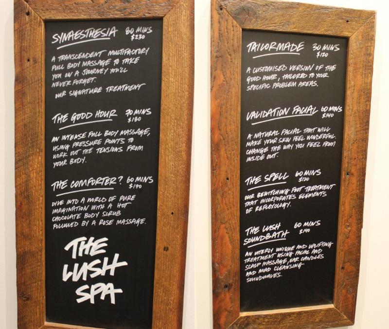 Lush Spa Prices