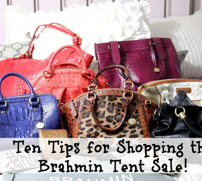 Ten Tips for Shopping the Brahmin Tent Sale 2014!