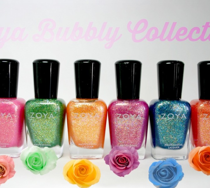Zoya Bubbly Collection 2014 Nail Polish Swatches