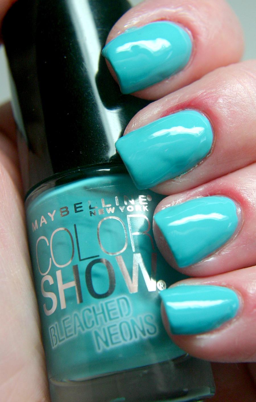 Neon Teal Nail Polish When bright neon nail polish