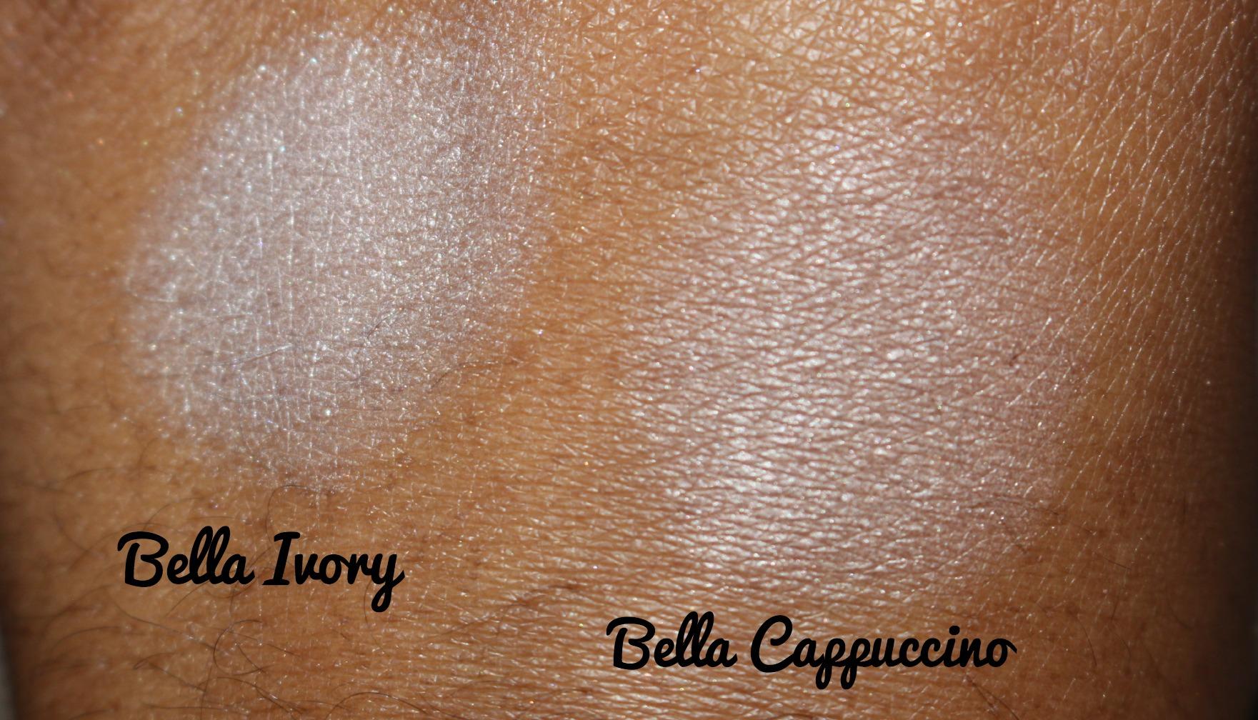 ff8490b67056f ... Milani Cosmetics Bella Gel Powder Eyeshadows Swatches Bella Ivory and  Bella Cappuccino.jpg