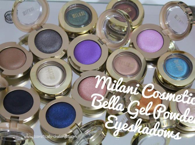 Milani Cosmetics Bella Gel Powder Eyeshadows Swatches