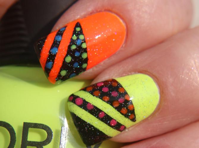 Makeup Wars: Orly Nail Polish Neon Angles Mani