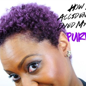 How I ACCIDENTALLY Dyed My Hair Purple!