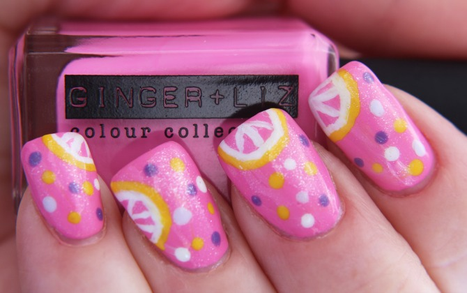Ginger and Liz Mani-Pink Lemonade