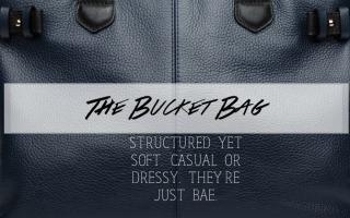 Blue natural leather female purse closeup