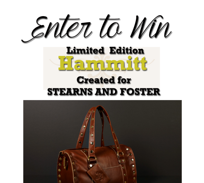 Hammitt Handbags and Stearns & Foster Give Away!