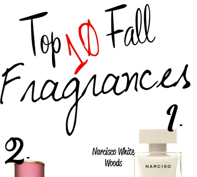 Top Ten Fall Fragrances that leave you feeling Powerful, Sexy and Seductive.