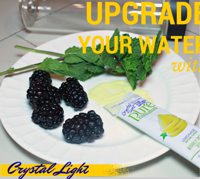 Upgrade your Water with Crystal Light Drink Mixes!